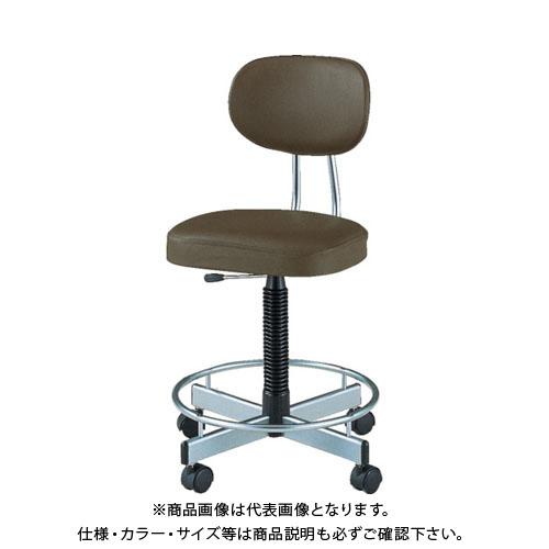 【直送品】 ノーリツ 導電オフィスチェア 導電ビニールレザー 肘なし ダークブラウン TL-E17L:DBR