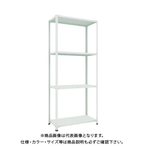 【直送品】 TRUSCO 軽量150型開放棚 W900XD450XH2100 4段 TLA73S-14