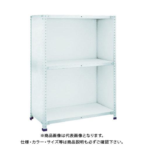 【直送品】 TRUSCO 軽量150型背側板付棚 W1800XD600XH1200 3段 TLA46L-23