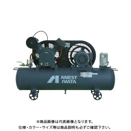 【直送品】 アネスト岩田 レシプロコンプレッサ(タンクマウント・オイルタイプ) 60Hz TLP110EG-10M6