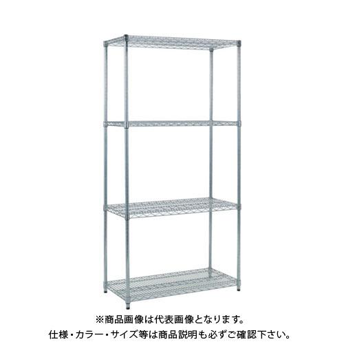 【個別送料1000円】【直送品】 TRUSCO スチール製メッシュラック W905XD609XH1838 4段 TME-6364
