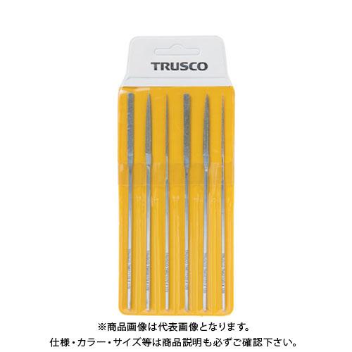 【12/5限定 ストアポイント5倍】TRUSCO ダイヤモンドミニヤスリ 平・半丸・丸 6本組セット TMIS1