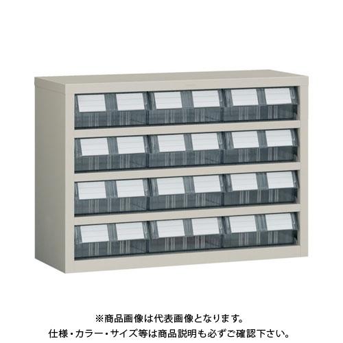 【個別送料1000円】【直送品】 TRUSCO 横型バンラックケースM型 854X307XH609 3列4段 TM-64BW