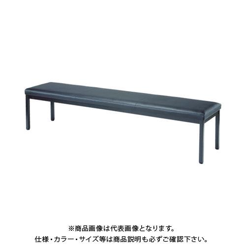 【個別送料1000円】【直送品】 TRUSCO ロビーチェア 背なし 1800X420X420H ブラック TMC-1844BK