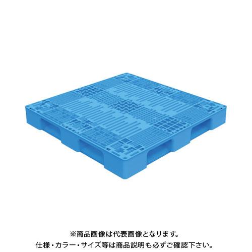 【運賃見積り】【直送品】 TRUSCO TMSC型樹脂パレット 1100X1100 黒 TMSC-P1111-BK