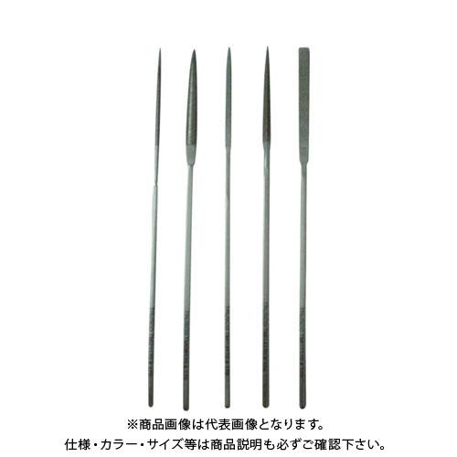 TRUSCO ダイヤモンドニードルヤスリ 半丸・三角・平・角・丸 5本組S 細目 TNFS2