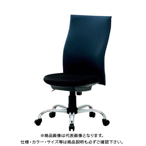 【運賃見積り】【直送品】 TRUSCO ハイバックオフィスチェアー 肘無 青 TOFC330:B