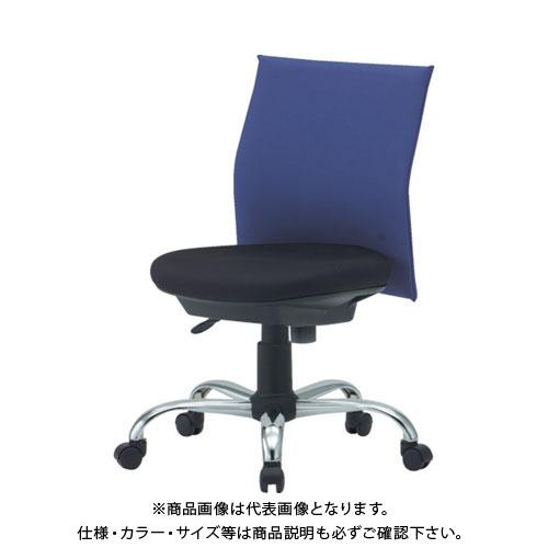 【運賃見積り】【直送品】 TRUSCO オフィスチェアローバック肘無 オレンジ TOFC203B:OR