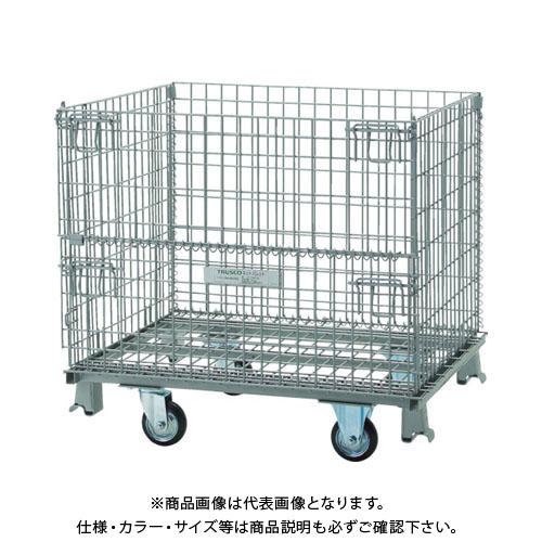 【直送品】 TRUSCO ネットパレット車輪付 1000X800X575 500kg用 TNP-6NS
