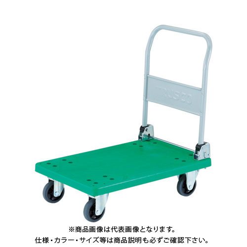【運賃見積り】【直送品】TRUSCO 樹脂台車 グランカート 折りたたみ 718X468 TP-701