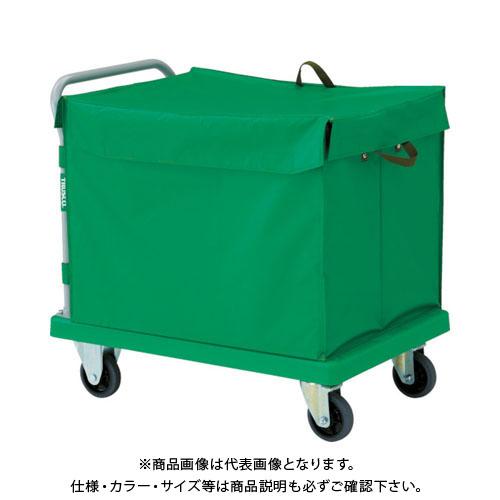 TRUSCO 樹脂台車 グランカート 蓋付ハンドトラックボックス付 900X605 TP-902-THB