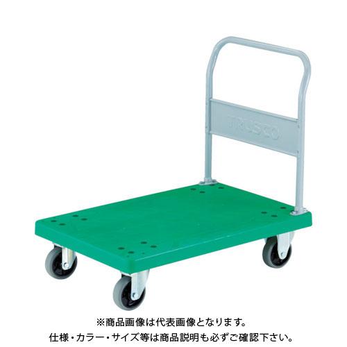【運賃見積り】【直送品】TRUSCO 樹脂台車 グランカート 固定 900X605 ウレタン TP-902U
