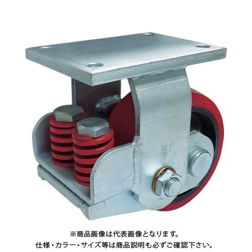 SAMSONG スプリング機能付きキャスター 固定200mm 耐荷重1100kg TP7581R-PCI-BB
