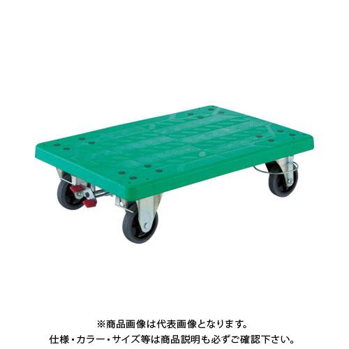 【運賃見積り】【直送品】TRUSCO 樹脂台車 グランカート 固定 4輪リングストッパー付 TP-902JKRS-4