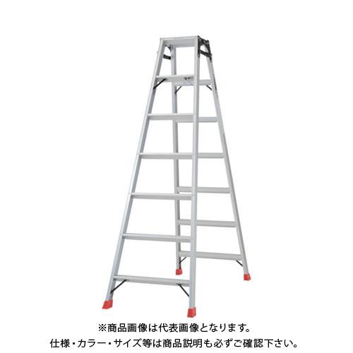 【個別送料1000円】【直送品】TRUSCO はしご兼用脚立 アルミ合金製脚カバー付 高さ1.98m TPRK-210