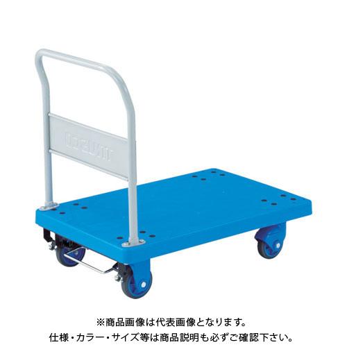【運賃見積り】【直送品】TRUSCO 樹脂台車 グランカート サイレント 固定 800X535 S付 TP-X802S