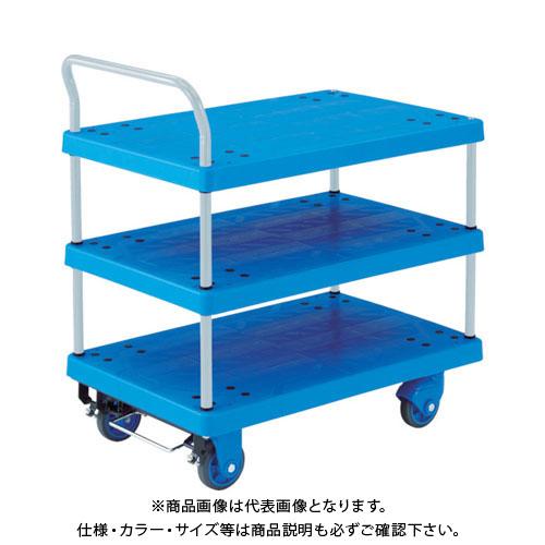 【直送品】TRUSCO 樹脂台車 グランカート サイレント 3段片袖 900X605 TP-X805S