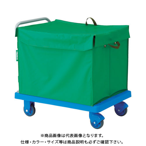 TRUSCO 樹脂台車 グランカート サイレント 蓋付ハンドトラックボックス付 900X6 TP-X902-THB