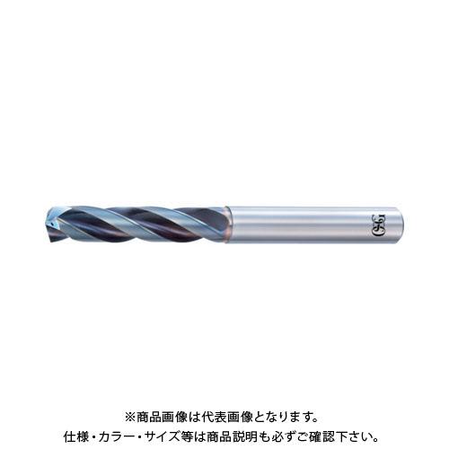 OSG 超硬油穴付3枚刃メガマッスルドリル(内部給油タイプ) 8660740 TRS-HO-3D-7.4