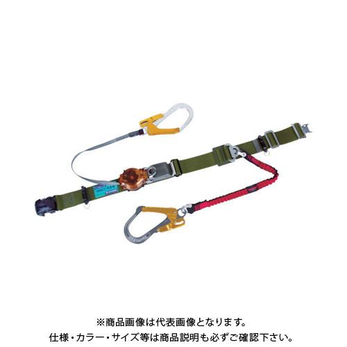 【納期約1ヶ月】ツヨロン ツインランヤード安全帯 国防色 2ウェイ・ノビロン TRL-2-93OC-NVRE-OD-OR-BP