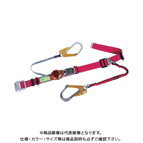 【納期約1ヶ月】ツヨロン ツインランヤード安全帯 赤色 2ウェイ・ノビロン TRL-2-93OC-NVRE-R-OR-BP
