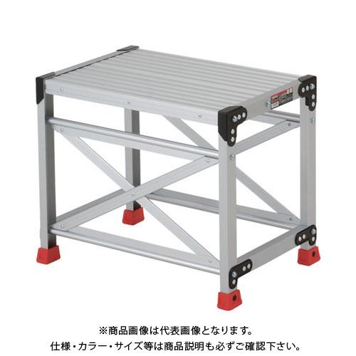 【個別送料1000円】【直送品】 TRUSCO 作業用踏台 アルミ製・高強度タイプ 1段 TSF-165