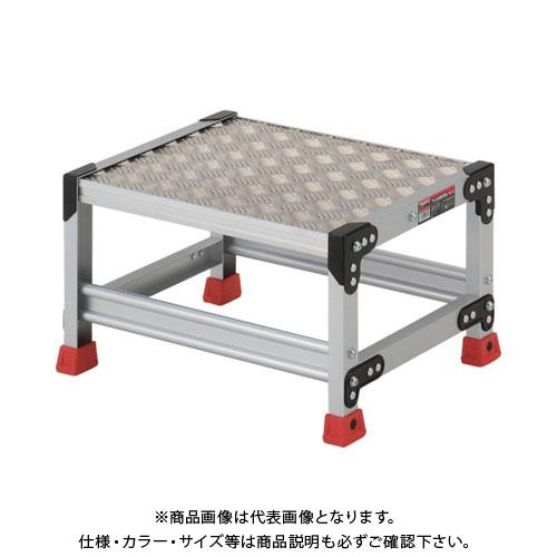 【個別送料1000円】【直送品】TRUSCO 作業用踏台 アルミ製・縞板タイプ 天板寸法500X400XH300 TSFC-153
