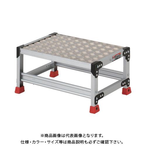 【個別送料1000円】【直送品】 TRUSCO 作業用踏台 アルミ製・縞板タイプ 天板寸法600X400XH300 TSFC-163