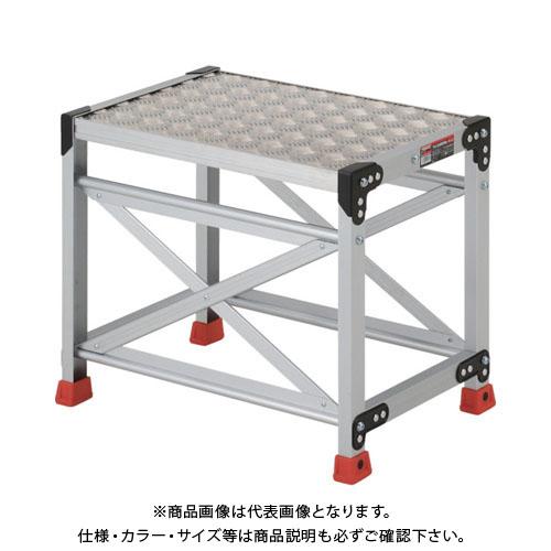 【個別送料1000円】【直送品】 TRUSCO 作業用踏台 アルミ製・縞板タイプ 天板寸法600X400XH500 TSFC-165