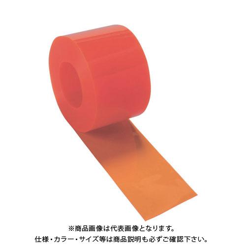 【直送品】 TRUSCO ストリップ型間仕切りシート防虫オレンジ3X300X30M TSBO-330-30