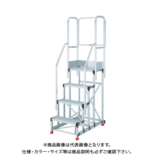 【運賃見積り】【直送品】TRUSCO 踏台 5段本体 両手すり天場三方 背面キャスター TSF-51015TE10HC2