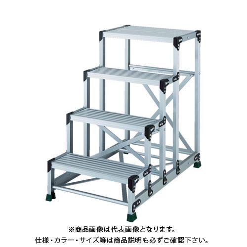 【運賃見積り】【直送品】TRUSCO アルミ合金製作業台 4段 高さ1.00m 天板600×400 TSF-4610