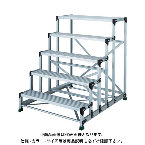 【運賃見積り】【直送品】 TRUSCO アルミ合金製作業台 5段 高さ1.25m 天板1000×400 TSF-510125