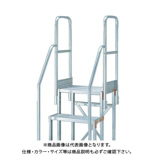 TRUSCO H1100 階段両手すり天場三方 TSF-51025用 TSF-TE10-11H-250