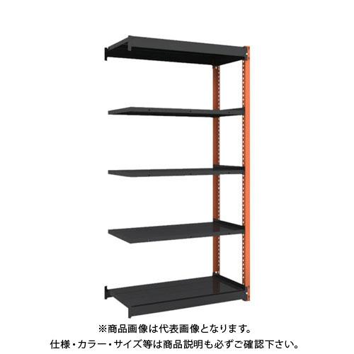 【運賃見積り】【直送品】 TRUSCO 軽量ボルトレス棚TSUF型 連結タイプ 900X490XH1800 TSUF100-63S-5B-BK