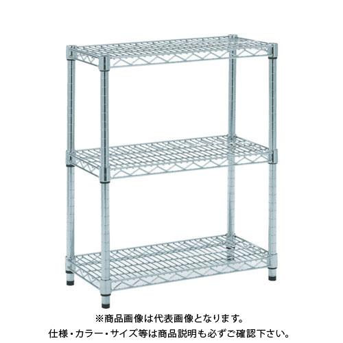 【個別送料1000円】【直送品】 TRUSCO ステンレス製メッシュラック H745XW1207XD457 3段 TSM-2443