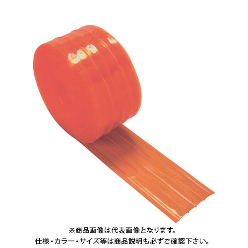 TRUSCO ストリップ型リブ付き間仕切りシート防虫オレンジ2X200X30M TSRBO-220-30