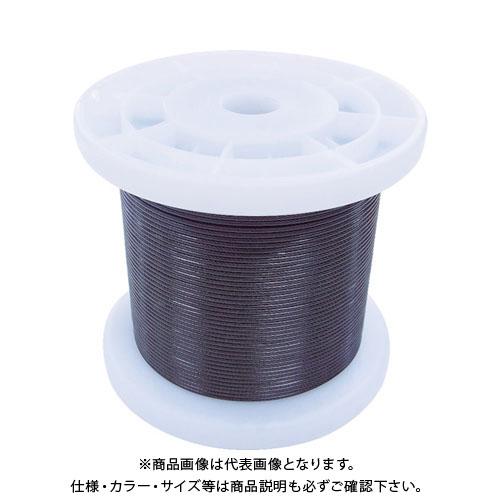 【8月1日限定!Wエントリーでポイント14倍!】ニッサチェイン 黒コーティングワイヤロープ 1.2mm×100m TSY12V-BK