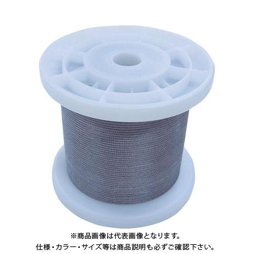 【20日限定!3エントリーでP16倍!】ニッサチェイン 透明コーティングワイヤロープ 1.2mm×100m TSY12V-CLR