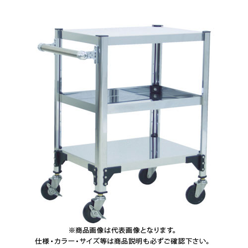 【個別送料1000円】【直送品】 TRUSCO ステンレス製導電性ワゴン 750X450XH829 TT3-823