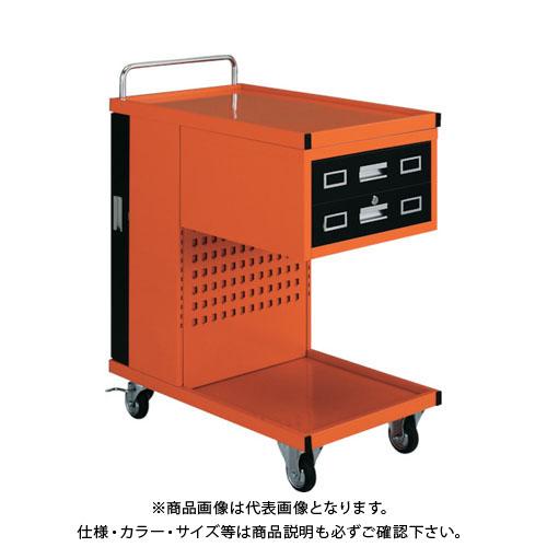 【運賃見積り】【直送品】 TRUSCO パンチングパネル付ツールワゴン 507X830XH1050 TVD-302R