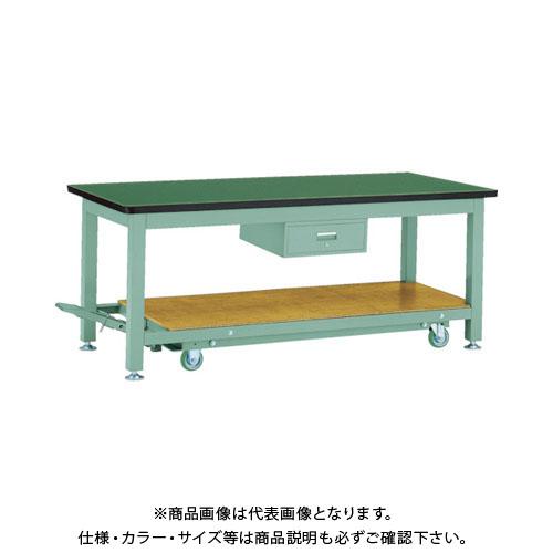 【運賃見積り】【直送品】 TRUSCO TWC型作業台 1800X900XH740 1段引出付 TWC-1809F1