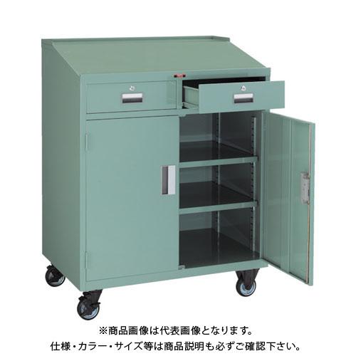 【運賃見積り】【直送品】 TRUSCO ワークデスク 900X600XH1100 キャスター付 TY-3510C
