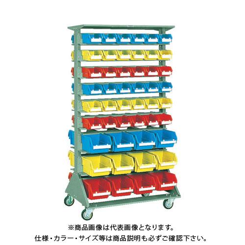 【個別送料1000円】【直送品】 TRUSCO 両面重量コンテナラック車輪付 H1565 T2X72 T5X24 U-1536WC