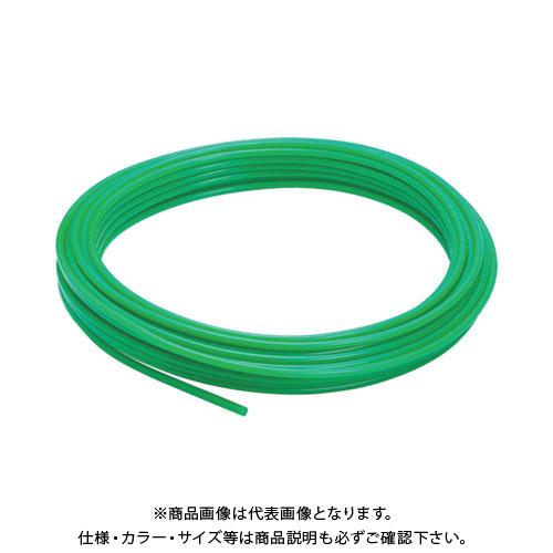 ピスコ ポリウレタンチューブ グリーン 10×6.5 100M UB1065-100-G