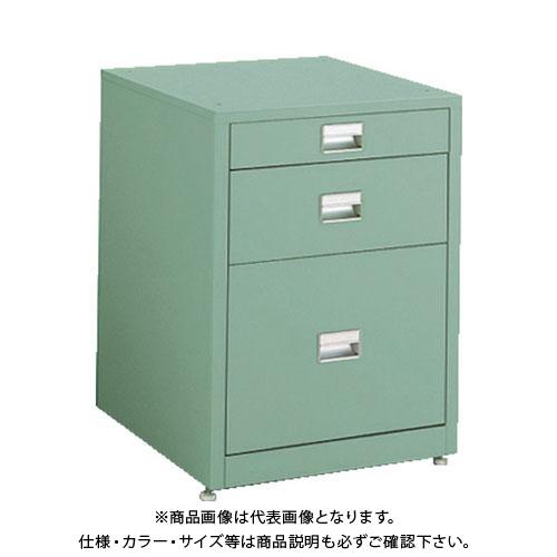 【直送品】 TRUSCO 作業台用サイドキャビネット 3段 グリーン UDC-111