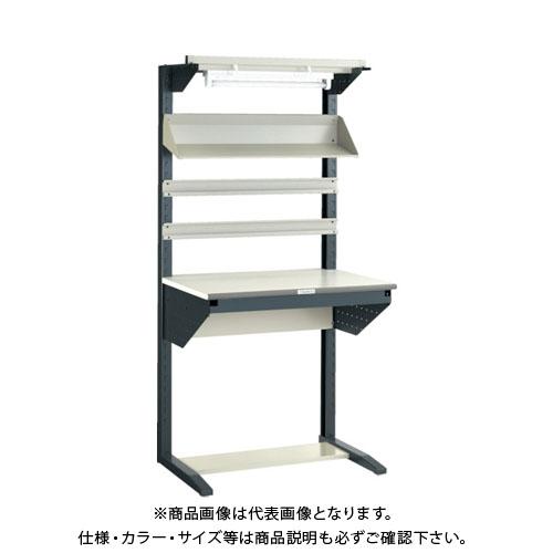 【運賃見積り】【直送品】 TRUSCO ライン作業台 片面 パネル・レールハンガー型 W900 ULRT-900H