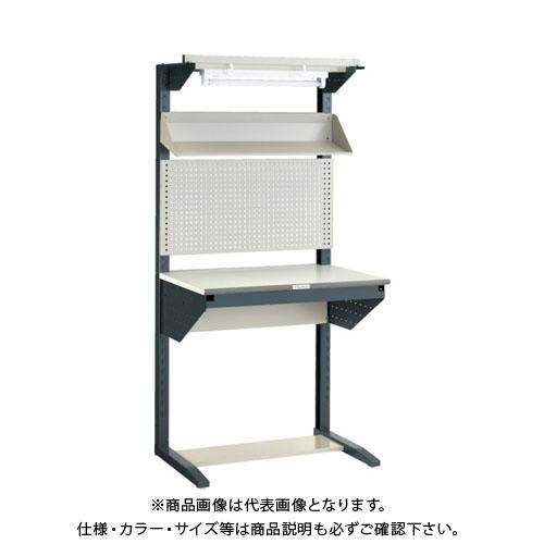 【運賃見積り】【直送品】 TRUSCO ライン作業台 片面 パネル・傾斜棚型 W900 ULRT-900F