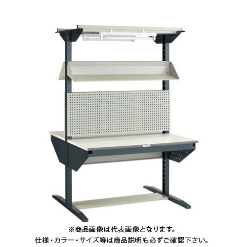 【運賃見積り】【直送品】 TRUSCO ライン作業台 両面 パネル・傾斜棚型 W900 ULRT-W900F