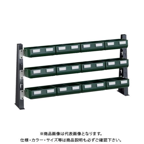 TRUSCO UPR型ライトビンラック卓上用 K-20GX12個 UPR-ML1803GL
